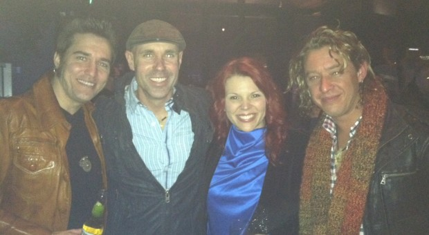 The Stellas, Dave Wilson, and Marshall Dane at an event in Nashville.