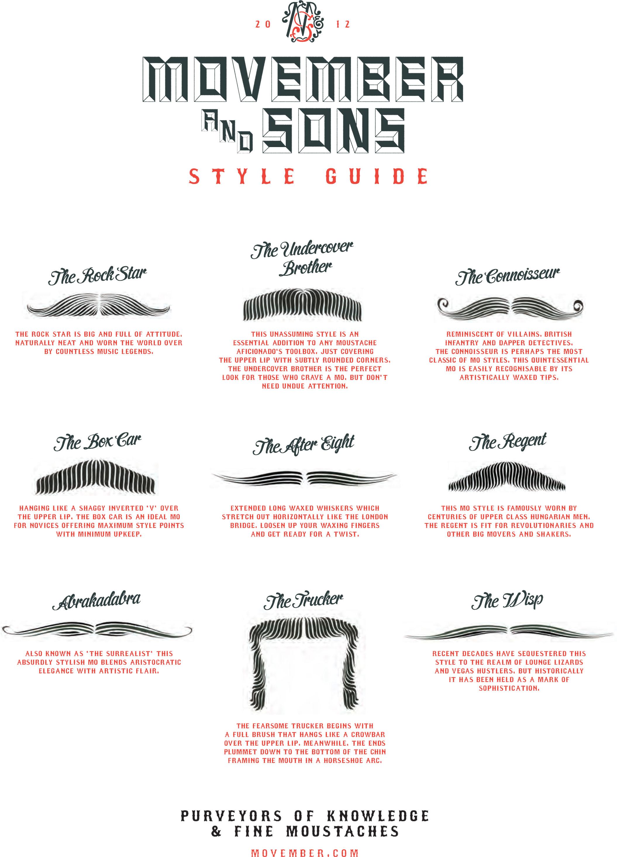 movember moustache style guide 2012. Black Bedroom Furniture Sets. Home Design Ideas