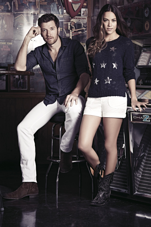 Brett Eldredge and Jana Kramer star in Macy's I.N.C ads