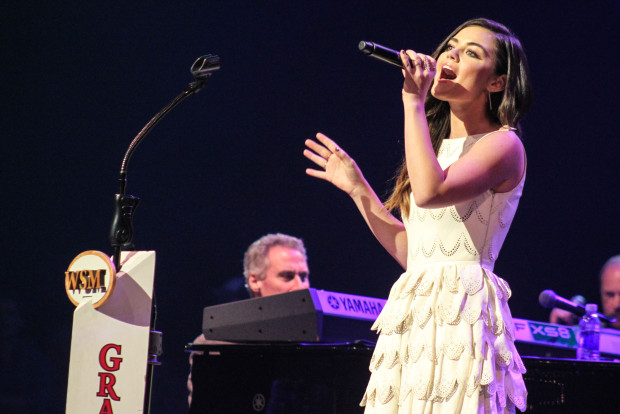 Lucy Hale sings at Grand Ole Opry
