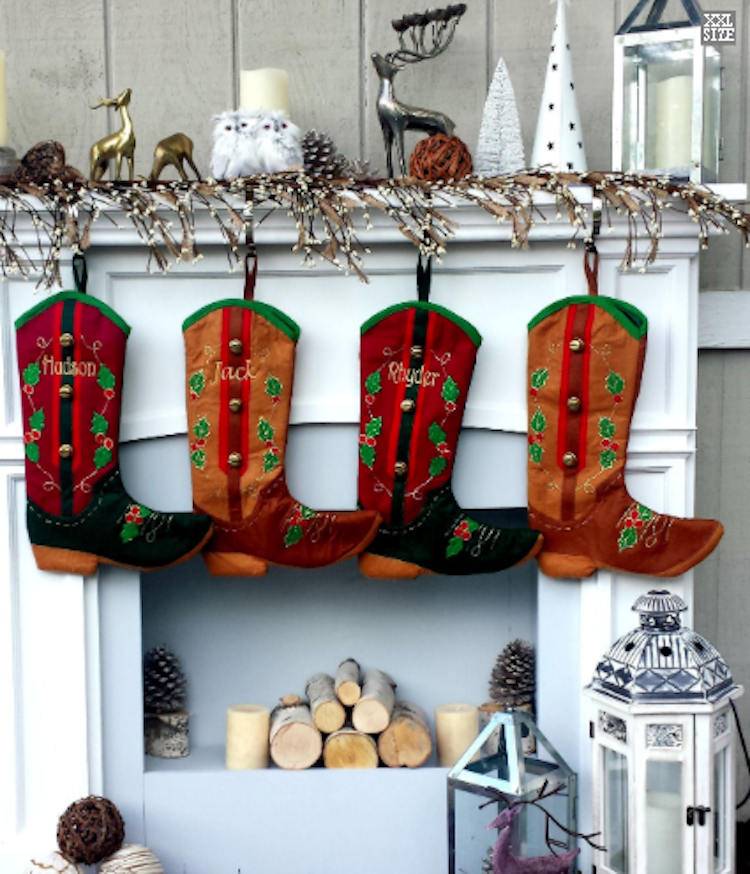 ideas for country themed stockings Christmas