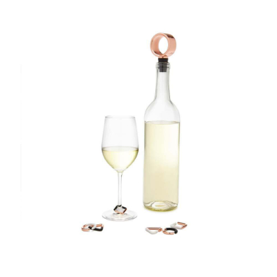 Wine Bottle Topper and Charms Set