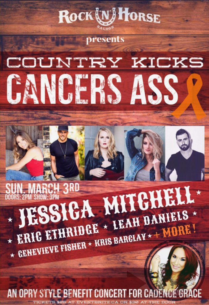 Country Kicks Cancer's Ass Poster