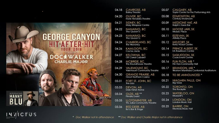 George Canyon - Hit After Hit Tour